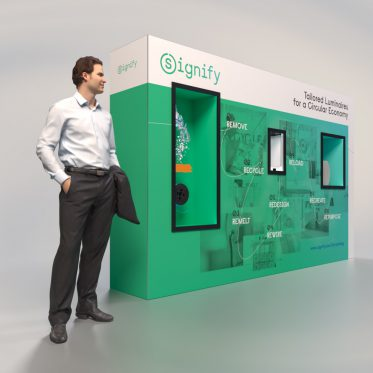 Mobile display wall Signify 3D light fixtures